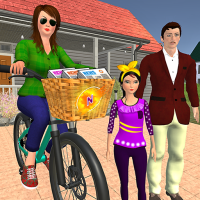 Working Mom Newspaper Girl Family Games 1.23 APK MOD (Unlimited Money)